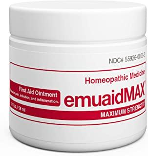 EmuaidMAX® Ointment 2 oz - Antifungal, Eczema Cream. Maximum Strength Treatment. Use Max Strength for Athletes Foot, Psori...