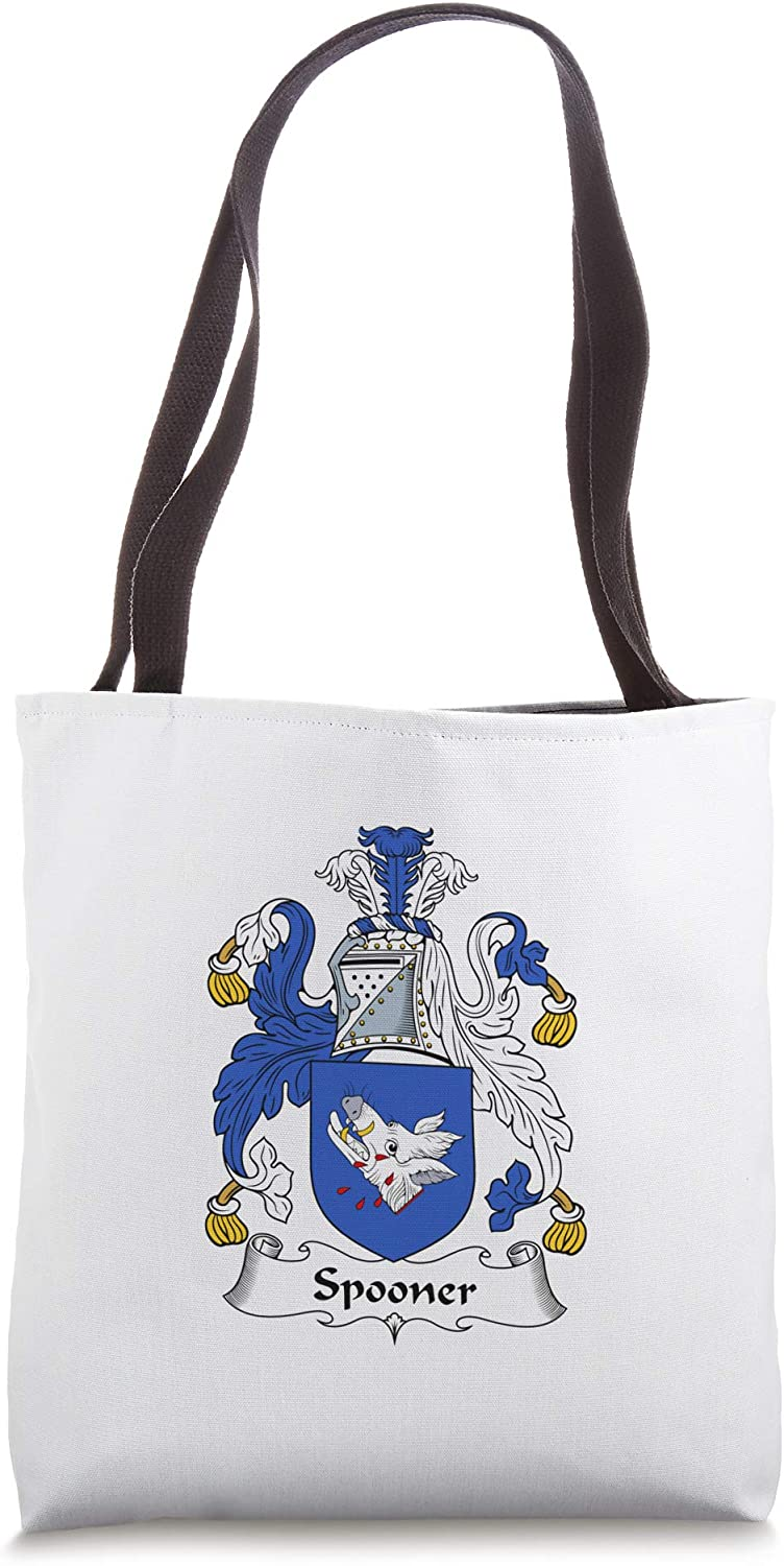 Spooner Coat of Arms - Family Crest Tote Bag