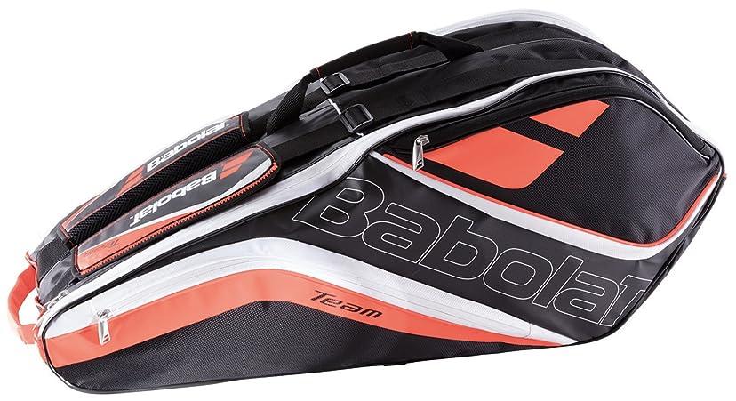 クモサドル散らすBabolat(バボラ) テニス バドミントン ラケットバッグ チームライン 6本収納可 BB751153 フルオレッド(568)