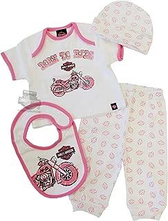 Harley-Davidson Girls Baby 4 Piece Motorcycle Born to Ride B&S Box Gift Set
