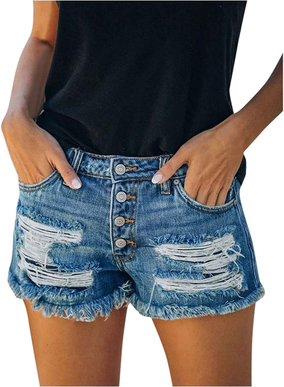 Denim Shorts for Women,Denim Shorts for Teen Girls Women Summer Sexy High Waisted Leg Denim Jean Shorts