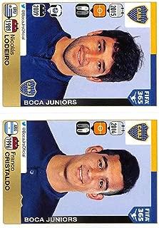 2015-16 Panini FIFA 365 Stickers Soccer #95-96 Nicolas Lodeiro/Franco Cristaldo Trading Card Sized Album Sticker