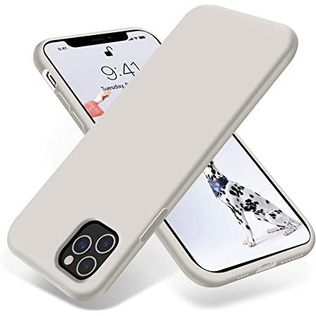 OTOFLY iPhone 11 Pro Max Case,Ultra Slim Fit iPhone Case Liquid Silicone Gel Cover with Full Body Protection Anti-Scratch Shockproof Case Compatible with iPhone 11 Pro Max (White Stone)