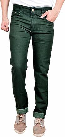 STUDIO NEXX Men's Dark Green Regular fit Jeans