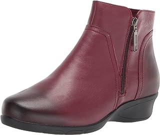 حذاء برقبة طويلة طويلة طويلة حتى الكاحل مموجة للنساء، خمري، 7. 5 XX-عريض