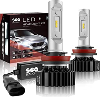 H11/H8/H9 LED Headlight Bulbs Conversion Kit SEALIGHT X1 Series 12x CSP Chips - 6000LM 6000K Xenon White Non-polarity