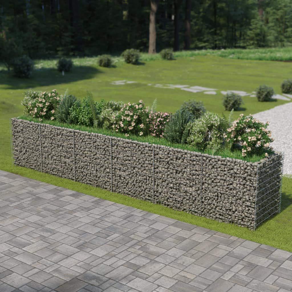 Tidyard Jardinera de Gaviones de Acero de Óxido Resistente a la Intemperie para Jardin o Patio Exterior 540x90x100 cm Cromado: Amazon.es: Hogar