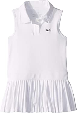 Pleated Performance Polo Dress (Toddler/Little Kids/Big Kids)