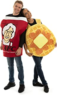Chicken & Waffles Couples Costume - Breakfast Food Outfit for Halloween Pairs
