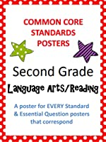Common Core Standards Posters AND Essential Questions-Second Grade LANGUAGE ARTS
