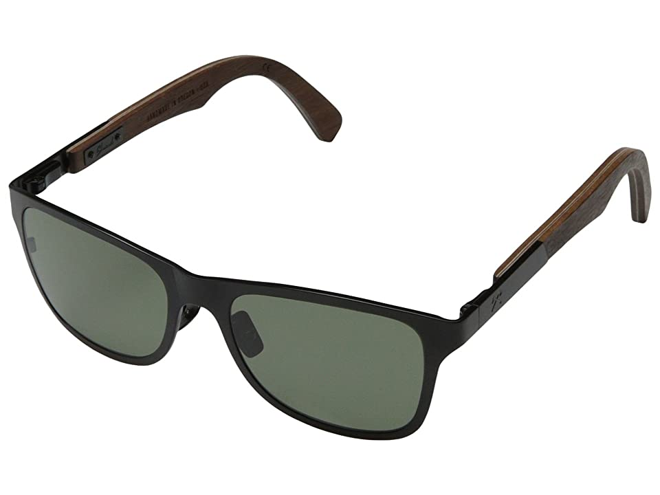 Shwood Canby Titanium Polarized (Black Titanium// Walnut G15 Polarized) Sport Sunglasses