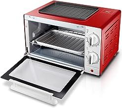 SLG Mini Horno 12L Incorporada De Cobre Estufa Eléctrica Incorporada En Horno Eléctrico De Cocina De Gas Horno, Rojo (Color : Rojo)