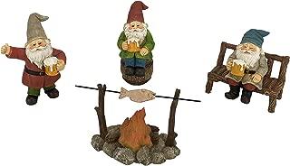 GlitZGlam Happy Gnomes Beer Drinking Buddies! - 5-Piece Garden Gnome Set for The Miniature Fairy Garden