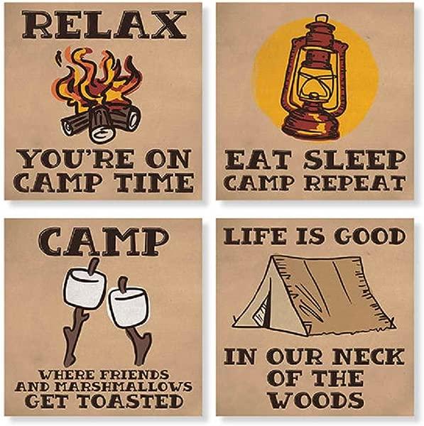 卡森野营方屋杯垫套装