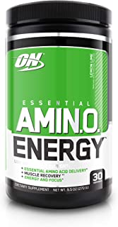 OPTIMUM NUTRITION Keto Friendly Preworkout and Essential Amino Acids with Green Tea and Green Coffee Extract, Lemon Lime, ...