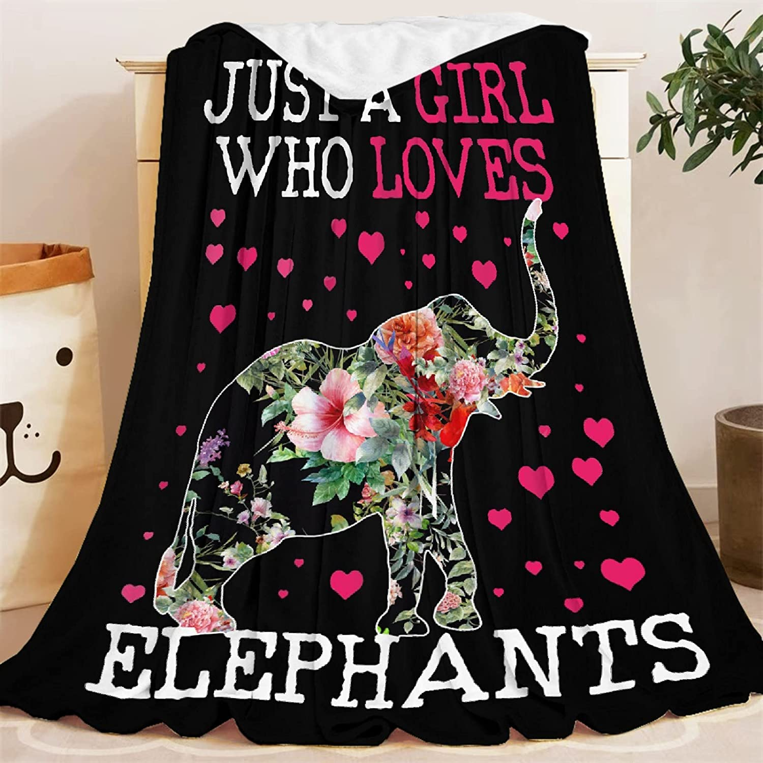 Blanket Just Girl Who Loves Jacksonville Mall Elephants Gifts Super Throws Soft Li New sales