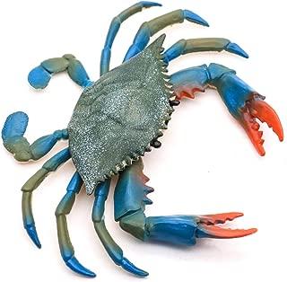 Pomeat 2 PCS Plastic Crab Sea Life Creature Decoration