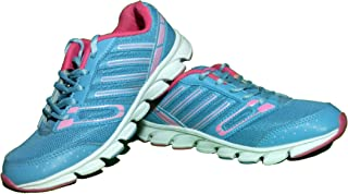 Columbus Sport Multipurpose Blue & Pink Color Shoes for Women Touchwood Mount Women Sports Shoes for Running/Walking (Ultra Lightweight Sole)