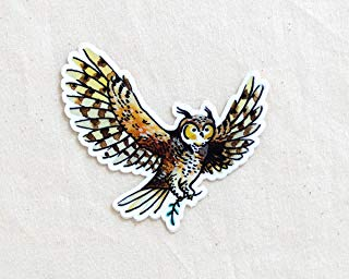 Owl Animal Sticker - Waterproof Vinyl Sticker - Adventure Sticker - Camping and Hiking Gear - Water Bottle Decal - Car Decal