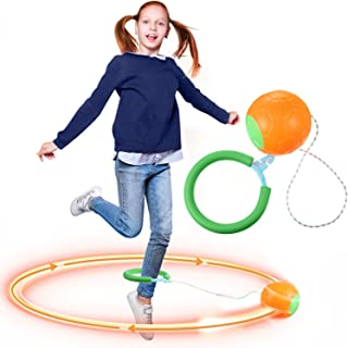 Toys Skip It Ankle Toy Skip Ball Jumping Swing Toy, Get Exercise The Funny Way, Fat Burning Fitness Game Fun Birthday Gift for Adults and Kids
