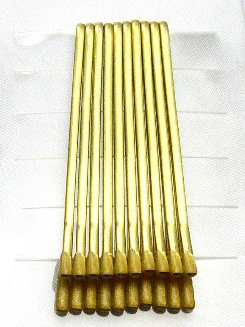 気分が悪い毛細血管バッフル【Made in Japan】アメピン ゴールド ヘアピン 10本組み*ストレート