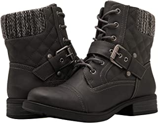 Women's Ankle Booties Fashion Combat Boots
