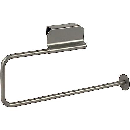 Spectrum Diversified Euro Holder, Paper Towel Dispenser For Bathroom & Kitchen Cabinets, Fits Both Standard & Jumbo Rolls, Satin Nickel