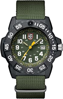 Luminox Mens SEA Swiss Quartz Stainless Steel and Nylon Casual Watch, Color: