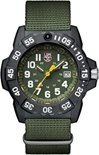 Luminox Men's SEA Stainless Steel Swiss-Quartz Watch with Nylon Strap, Green, 24 (Model: 3517)