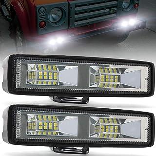"""Biqing 2X48W Owalny LED Reflektor Roboczy,Reflektor Dodatkowy Reflektor Offroadowy 6"""" Listwa świetlna LED 12V 24V Reflekto..."""
