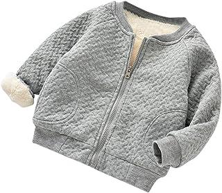 Sumen Baby Kids Girls Fall Winter Plush thick baseball Coat