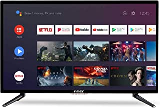 """E:MAX E320HXA Android TV 32 inch 81 cm (HD LED 32"""" Smart TV, Triple Tuner, Android TV 9.0 Pie, Google Assistant, Google Pl..."""