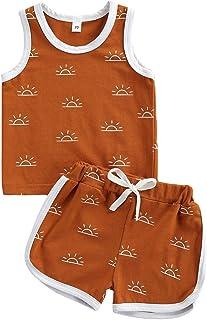 YQYJA Baby-Kleidung für Jungen, Sommer-Set, Tierdruck, Kurze Ärmel, 2-teiliges Outfit