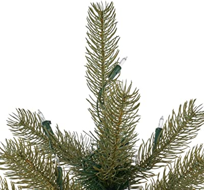 9-foot Mixed Spruce Pre-Lit Clear Light Hinged Artificial Christmas Tree