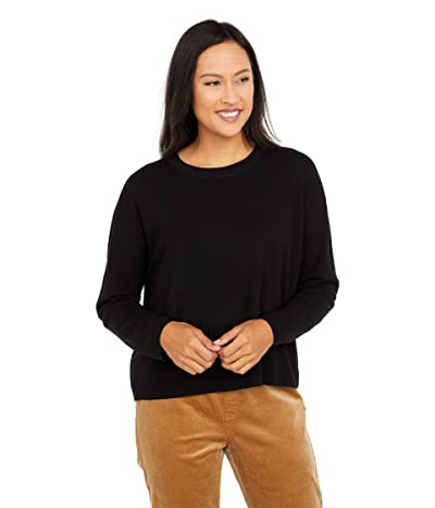 Eileen Fisher Crew Neck Box Top (Black) Women