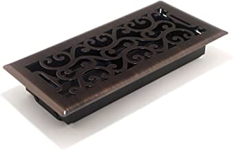 Accord AMFRRBC410 Charleston Floor Register, 4-Inch x 10-Inch(Duct Opening Measurements), Dark Oil-Rubbed
