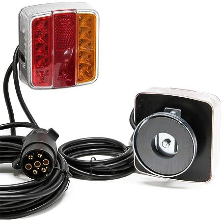 Led Rückleuchte Mit Magneten 7 Poliger Stecker 12v E11 Für Anhänger Auto