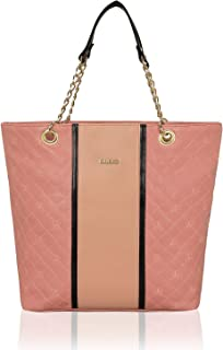 KLEIO Stylish Quilted Zip Tote Handbag Purse for Office Women Ladies College Girls