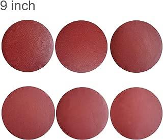 Sackorange 30 PCS 9-Inch NO-Hole PSA Aluminum Oxide Sanding Disc, Self Stick(5 Each of 80 100 120 180 240 400)