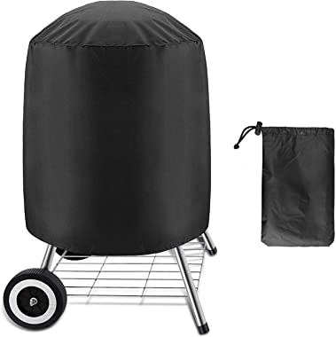 Kettle BBQ Grill Cover, Barbecue Grill Cover for Weber Charcoal Kettle, Heavy Duty Waterproof Smoker Cover Round Grill Covers