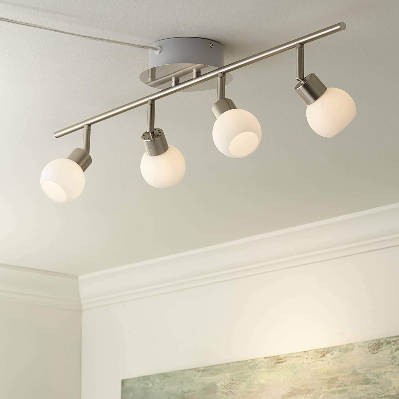 San Jose Mall Max 76% OFF Pro Track Globe Nickel 4-Light - Plug-in Fixture LED T