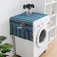 Anpay Drum Washing Machine Cover Portable Household Single Door Refrigerator Cover Dustproof