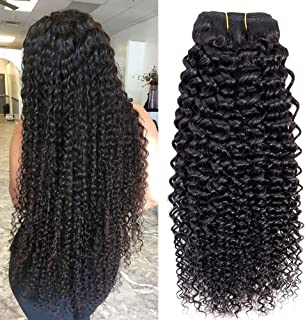 Brazilian Kinky Curly Human Hair Bundles Brazilian Hair Jerry Curls 10A 100% Unprocessed Virgin Brazilian Curly Sew in hair extensions Natural Color (10 12 14)