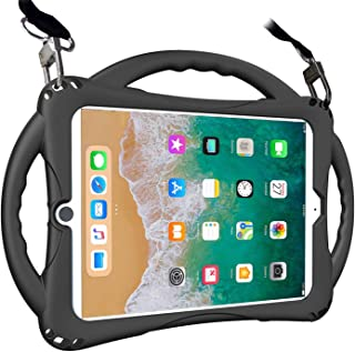 TopEsct iPad 9.7 inch 2018/2017 Kids Case,iPad Air Case, Soft Silicone Childproof Handle Stand Case for iPad 5th Gen(2017),iPad 6th Gen(2018) and iPad Air(2013) (Black)