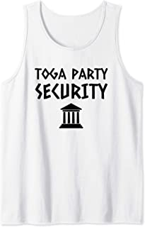 Toga Party Security Guard Greek Celebration College Frat Boy Tank Top