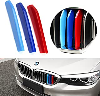 lanyun M Colors 5 Series Grill Stripes G30 G31 Grille Insert Trims Decorate for 2017-up BMW G30 G31 5 Series 520i 530i 540i 550i 9-Beam Kidney Grille (17-up G30 G31 5 Series 9-Beam Grille Insert)