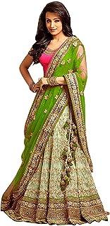 6d3f26d62f Sojitra Enterprise Women's Embroidered multi colour Semi Stitched lehengas, lehenga  choli with Dupatta (Free
