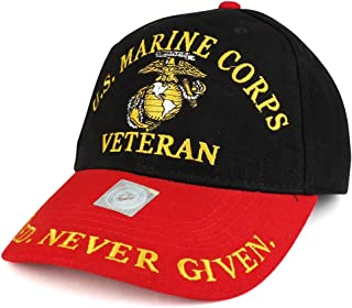 Officially Licensed US Marine Corps Veteran Embroidered Cotton Baseball Cap