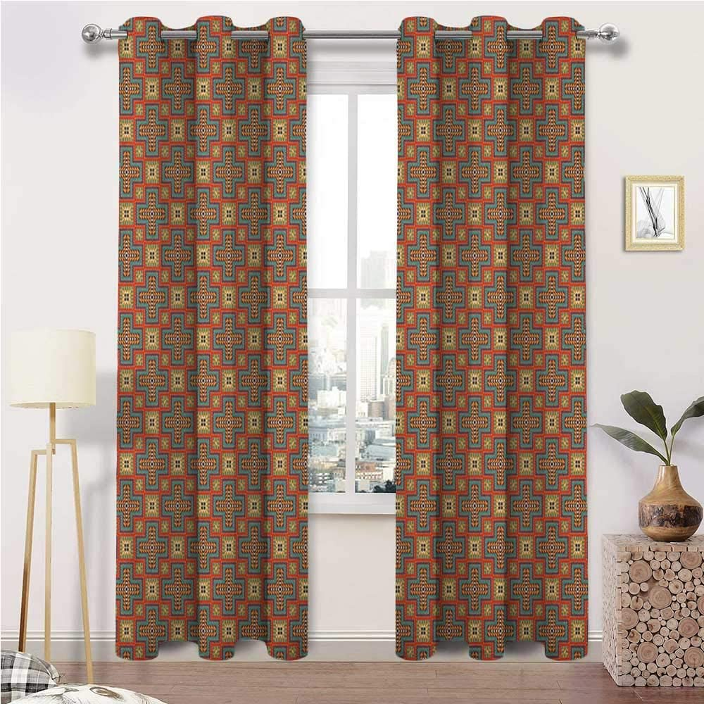Blackout Curtains and Drapes 送料無料 Windo お見舞い Energy Efficient Southwestern