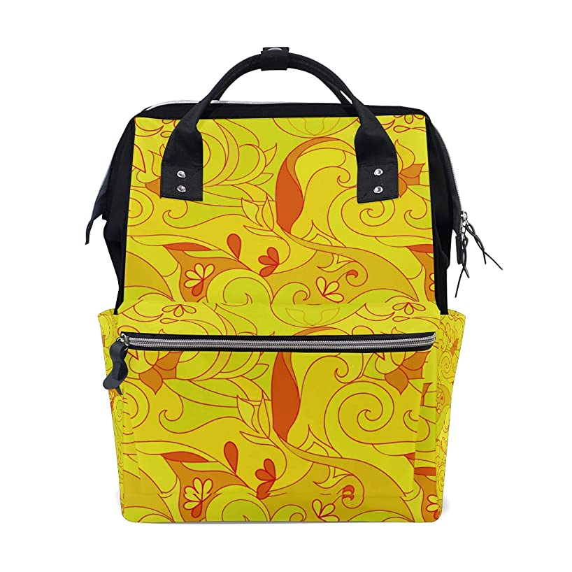 Yellow Abstract Pattern School Backpack Large Capacity Mummy Bags Laptop Handbag Casual Travel Rucksack Satchel For Women Men Adult Teen Children